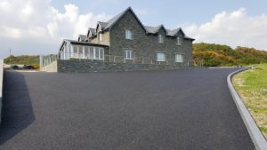 driveway after laying tarmac